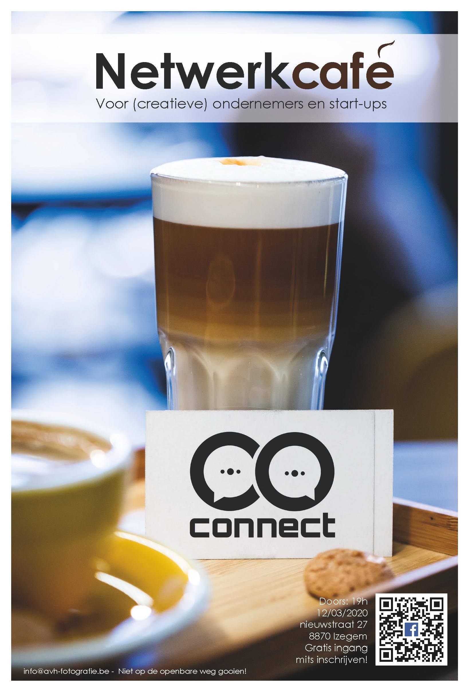 Flyer Connect Netwerkcafé 12 maart 2020