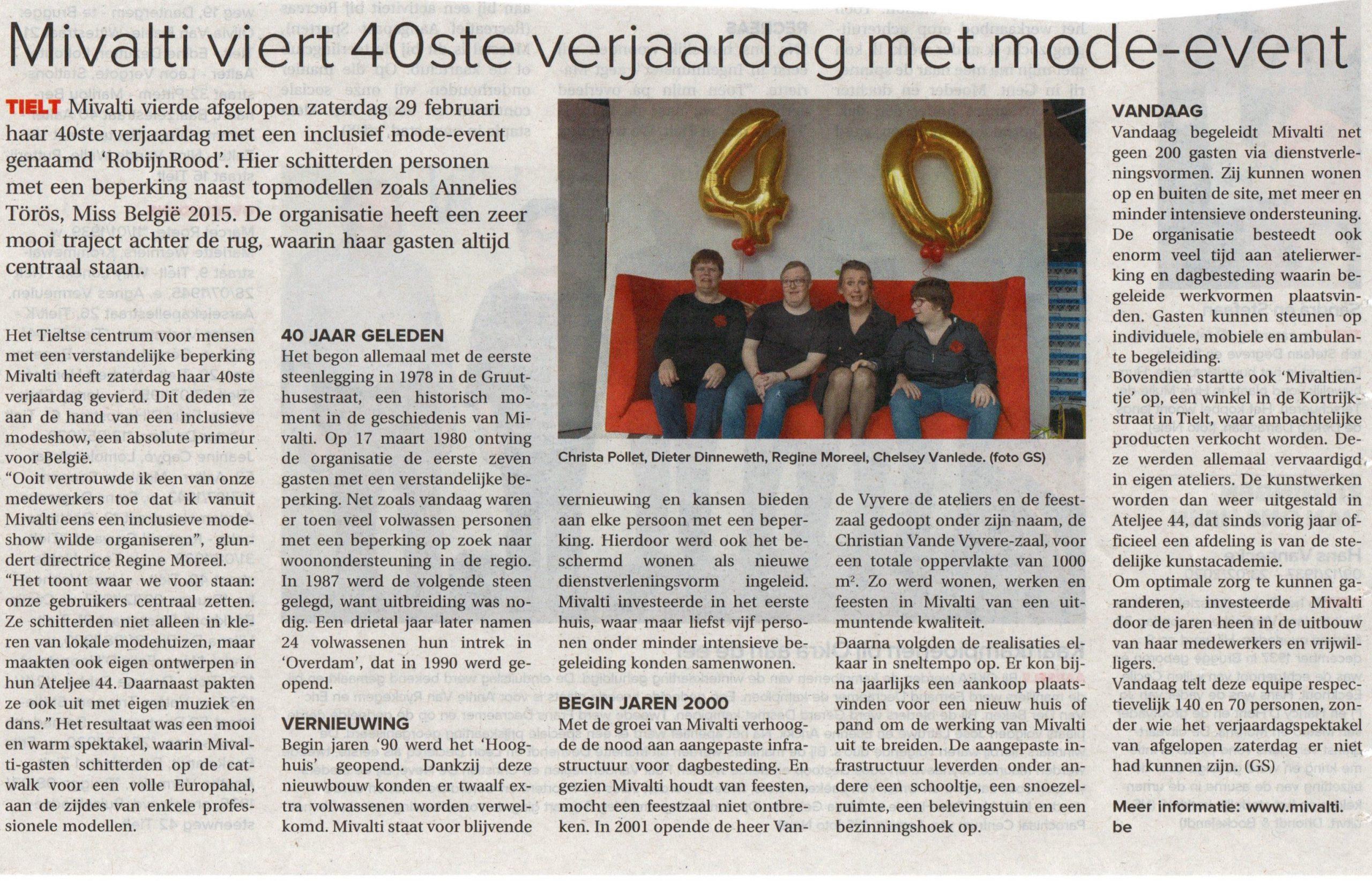 40ste verjaardag van Mivalti Tielt - Inclusief Mode Event - 2020 KW Izegem